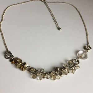 Silver Beaded artisan style necklace